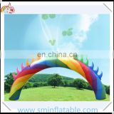 Colorful inflatable rainbow arch, inflatable wedding archway for advertising,inflatable entrance door for party rental