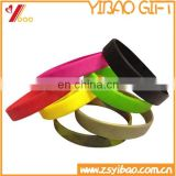 Custom various of Blank Silicone Wristband/Blank Dual color Silicon bracelet/Blank Glow in Wristband