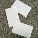 Rfid double-sided with film white card ID card printing.