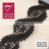 Wholesale fashion black african lace neck trim
