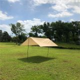 Camping Rain Shelter khaki Color Sun Shade For Outdoor Backpacking 3X3M