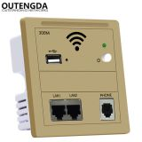 In Wall Access Point Embedded Wireless AP 86-type panel wifi Router 220v/POE Indoor WiFi USB Charge White in wall ap