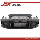 FOR MITSUBISHI EVO 10 EVO X VA STYLE GLASS FIBER FRONT BUMPER+CARBON FIBER CANARDS AND FRONT LIP FOR MITSUBISHI LANCER EVO X