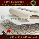 Compressing or vacuum packing plastic coil spring for mattress