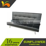 Metal Legs Red Leather Sofa Bed Futon Sleeper                                                                         Quality Choice