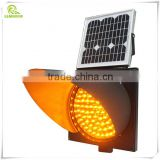 Best price yellow LED strobe warning solar traffic light                                                                         Quality Choice