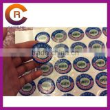 Small MOQ brand name gel Self-Adhesive 3-D clear make custom crystal jelly gel window sticker