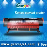 Garros 3.2m Width Konica Solvent Printer With 4 Pcs 512i Konica Print Head Solvent Printer
