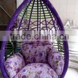 Good supplier outdoor furniture PE rattan hanging chair single seat swing chair                                                                         Quality Choice
