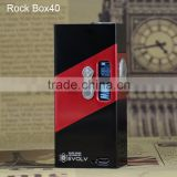 2015 new design box mod rock box 40w vt40 vt200 used Evolv DNA 40 chip