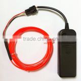 3meters of 2.3MM Chasing Motion EL Wire with Portable 3VDC EL Inverter