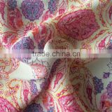 Screen Printed Rayon Viscose Crepe Marocaine fabric for Ladies' Drapy Dresses and Blouses