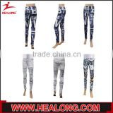 customized design colorful printing girls yoga wear gym pants