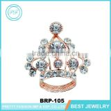 Gorgeous empress accessories fabulous rhinestone crown brooches with gold enameled safety pin brooches