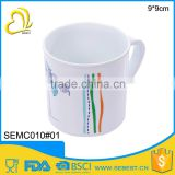 cheap newest style hanld round plastic drinking cup