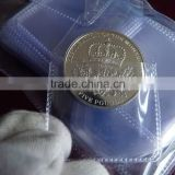 Clear water proof plastic coin bag