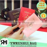 Newest official Pu leather travel passport holder /waterproof passport cover