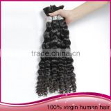 Hot Selling Long Kinky Curly Natural Color Human Hair Bulk Cheap Brazilan Human Hair Bulk