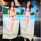 Wholesale Cotton 2014 3D Picture Sex Animal And Women Beach Towel