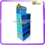 corrugated customized tiered children toy car cardboard display stand for baby fruit toy new product