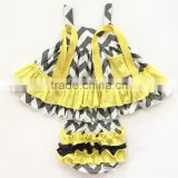 hot sale infant swing top set summer girls tank top set baby swing top set