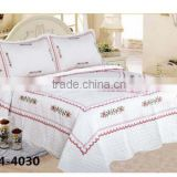 one set lace embroider quilt with two pillow case