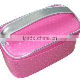 Fashion Tote Cosmetic Bag Case with PU Leather