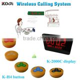Wireless Waiter Calling System Useful Best Price Easy To Operate Restaurant Pager Equipment K-2000C+K-H4-Yellow
