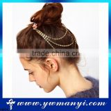 Wholesale new arrival fashion head chain for hair crystal head chain H0005