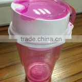 Plastic Cup Snack Drink in One Container,Snack Drink Cup with Straw
