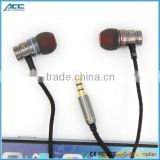 9mm Driver in ear Earbuds Earphone with Braided Cable for mobile/MP3/MP4/Computer,9mm Driver Earbuds Earphone