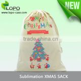 New Sublimation printable heat transfer blanks canvas Drawstring Bag from China