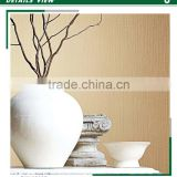 low price printing non woven wallpaper, beige neat plain wallcovering for hotel , decorating wall sticker brands