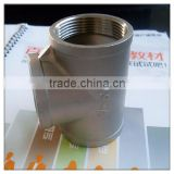 "1 1/2"" BSP Tee Stainless Steel 316 Female Threaded Pipe Fitting BSPT"