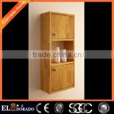 Side Bathroom wooden wall mounted cabinet designs storage cabinet
