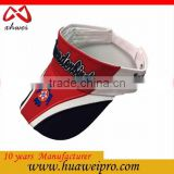 2016 Summer Out Door Sports Sun Visor Hat Promotion Cotton OEM Service Sun Visor Cap Hat