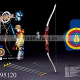 1:1.5 scale plastic bow and arrow set bow and arrow set with target board toy archery set