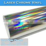New Style 1.52x20M Silver Laser Chrome Holographic Rainbow Film For Car Wrap Vinyl                                                                         Quality Choice