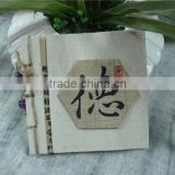kraft paper custom notebook with cloth cover
