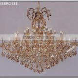 Hot Selling Crystal Lamp Big Foyer Crystal Chandelier Lamp Part Use Hotel Lighting MD88107 L53
