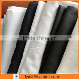shijiazhuang factory TC80/20 black color dyed fabric for shirts 45s 110x76