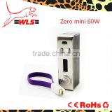 black zero mod mini TC 60W thread 510 fit for goblin mini, zephyrus, goliath v2