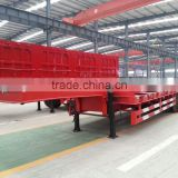 Competitive low price high quality 60ton CIMC 2016 new 3 axle low bed semi trailer for construction machinery