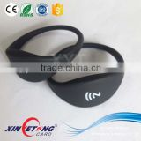high quality silicone RFID Wristband/Barcelets,Passive HF RFID Silicon Wristband,Black RFID Wristband,