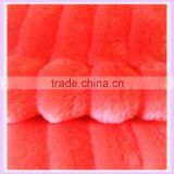 polyester fabric wholesale 18mm red imitation faux fur super soft plush dyeing fabric china suppier