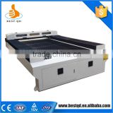 China Alibaba flat bed textile co2 jeans cloth laser cutting machine                                                                         Quality Choice