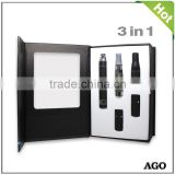 wholesale dry herb atomizer with ego battery wholesale Ago 3 in 1 vaporizer kit e cigarette