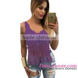 Wholesale OEM Service Lady Crochet Cropped Crop Tops