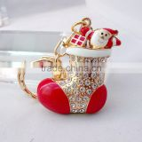 Christmas ornament boots socks key chain Christmas keychain