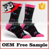 sport happy socks colorful cotton socks with red custom thick sock